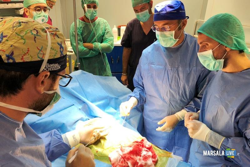 defibrillatore sottocutaneo, un momento dell'intervento a Marsala