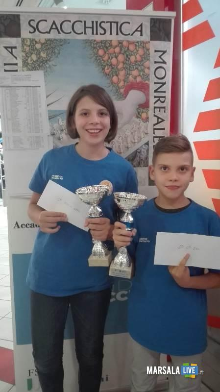i fratelli Montalto nel torneo di scacchi Rapid di Palermo 2018