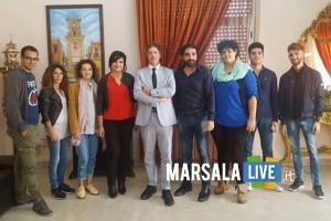 sindacoGiuseppeCastiglione con Vita Catanzaro Michele Li Volsi e cast cortometraggio About Penny 18.10.2018
