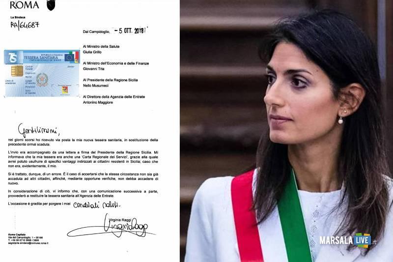 virginia raggi sindaco Roma - tessera sanitaria regione siciliana