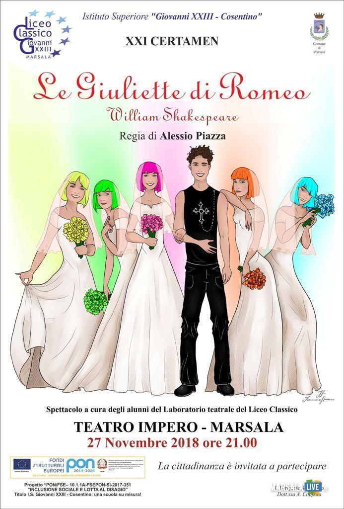 Le Giuliette di Romeo, curato da Alessio Piazza - Marsala, teatro Impero