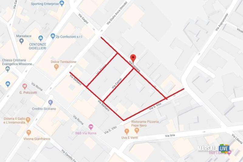 Marsala, chiusura strada per lavori rete fognante