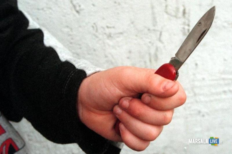 Minaccia la madre con un coltello