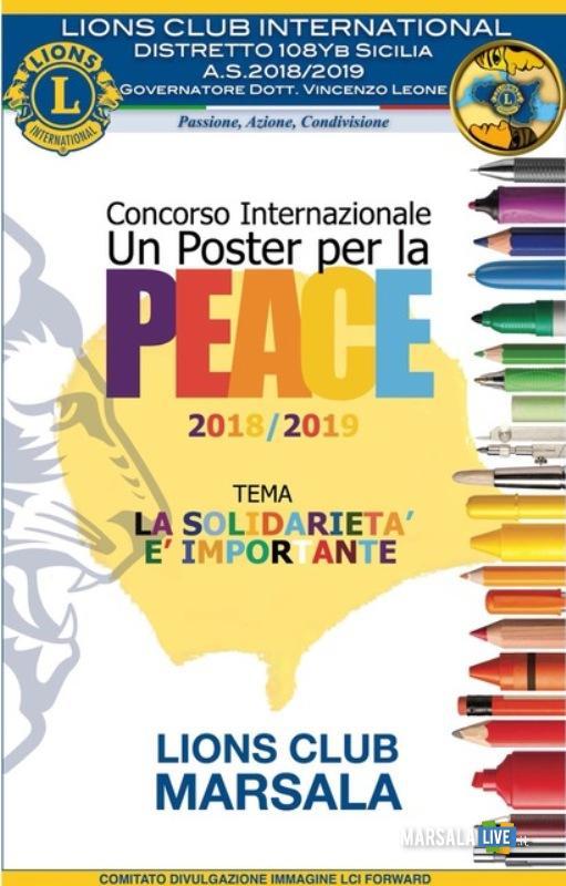 Un poster per la pace - corso internazionale, marsala lions club