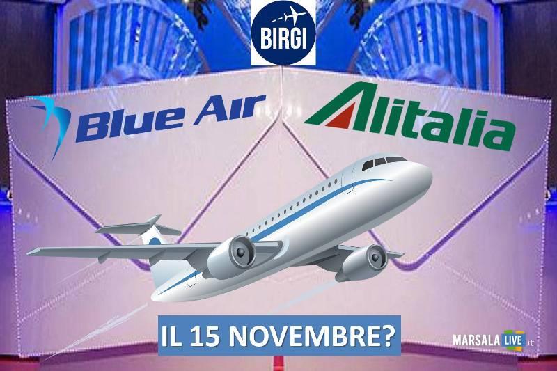blu air, alitalia, aeroporto vincenzo florio birgi Trapani-marsala