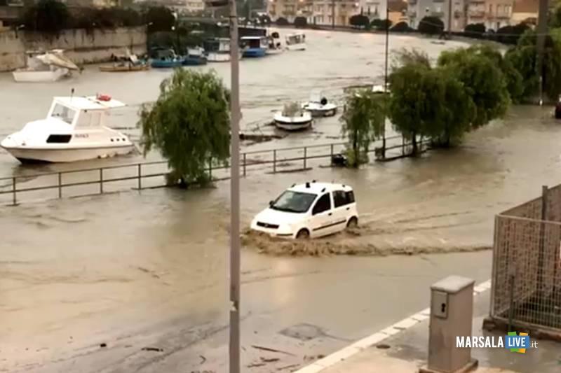 fiume mazaro, maltempo a mazara del Vallo