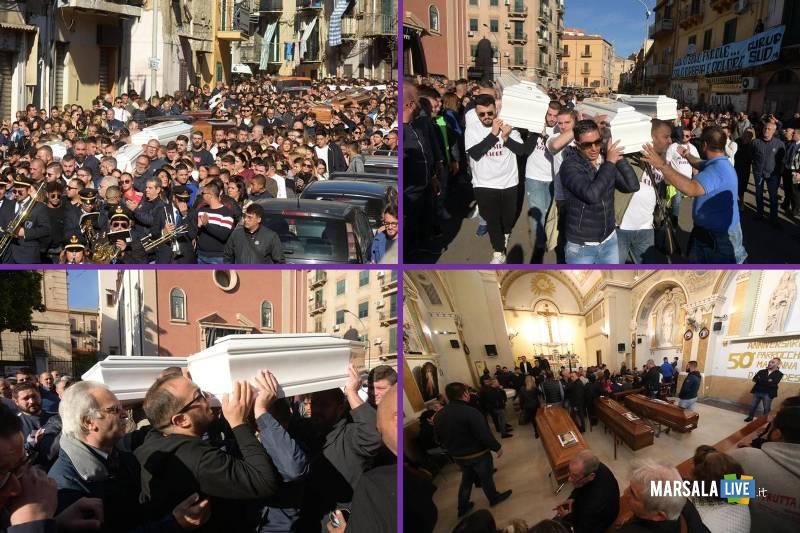funerali delle vittime di Casteldaccia