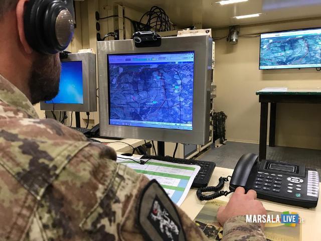 il posto comando digitalizzato durante l'esercitazione