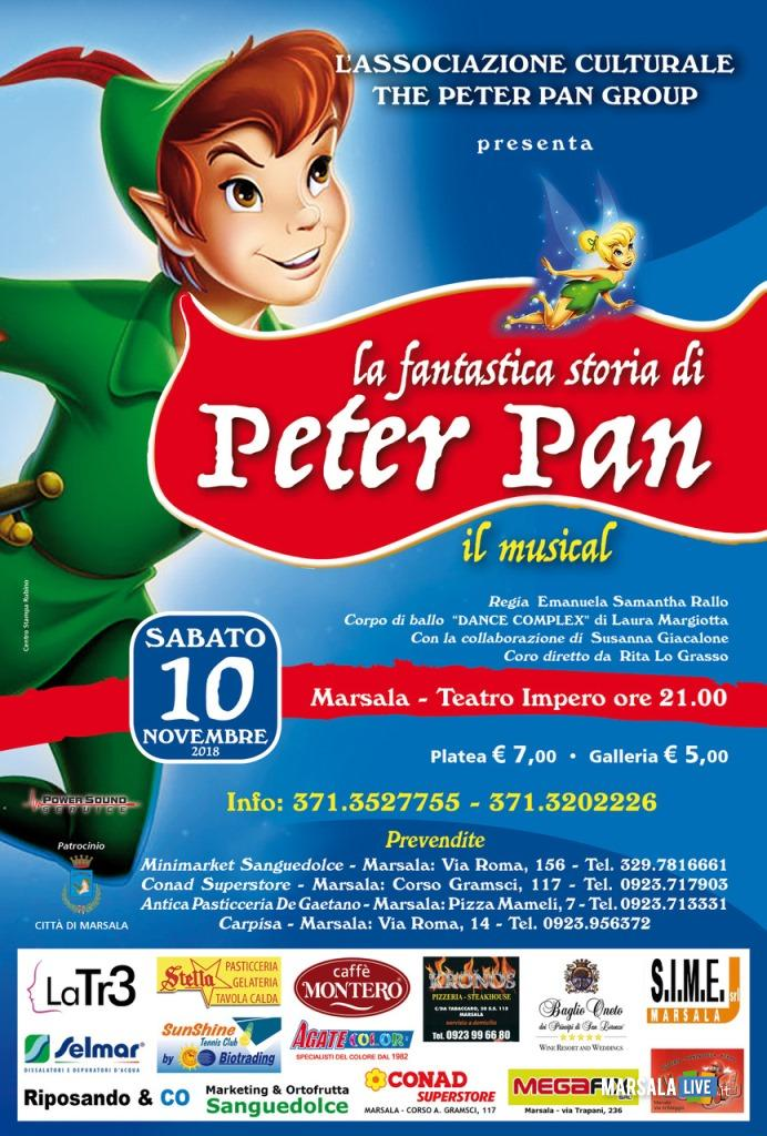 musical La fantastica storia di Peter Pan, The Peter Pan Group al Teatro Impero