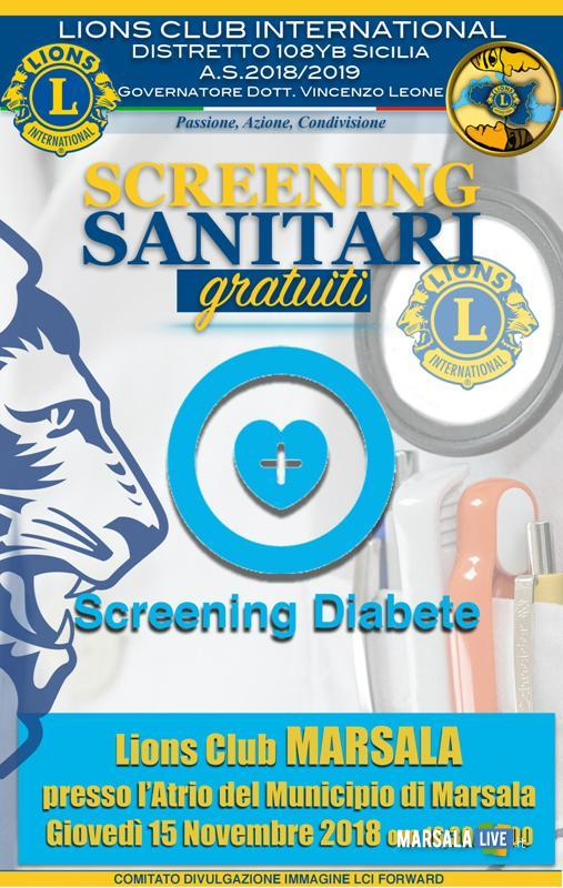 screening diabete marsala lions club 2018