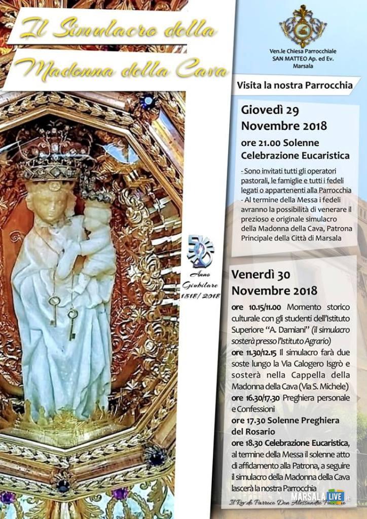 simulacro della Madonna della Cava, Marsala a San Matteo