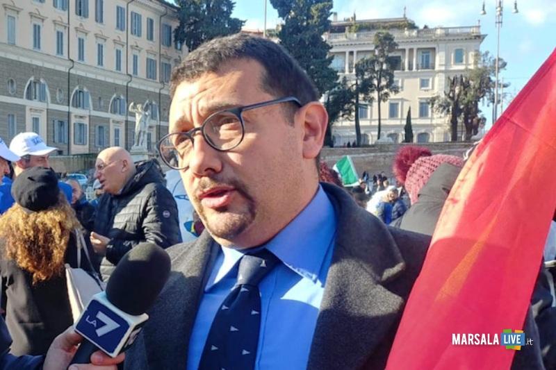 Igor Gelarda a Roma alla manifestazione Lega