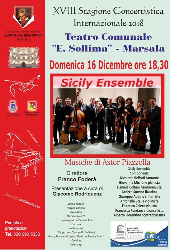Marsala, concerto Sicily Ensemble - Stagione Concertistica 2018