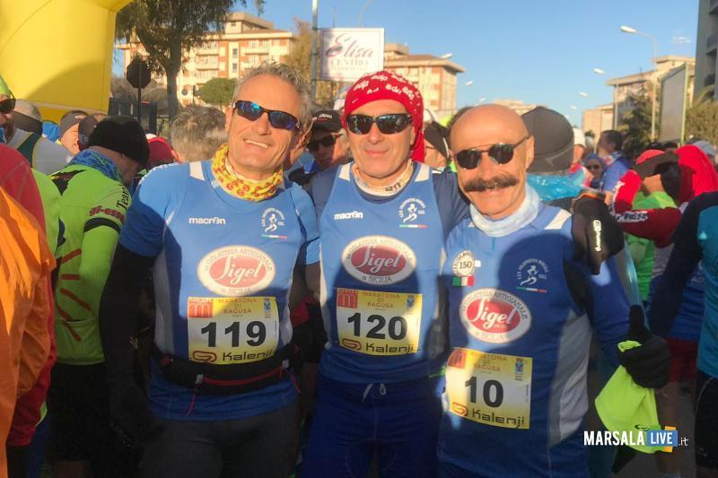 - Atl. - Damiano Ardagna, Ignazio Cammarata e Michele D'Errico alla maratona di Ragusa
