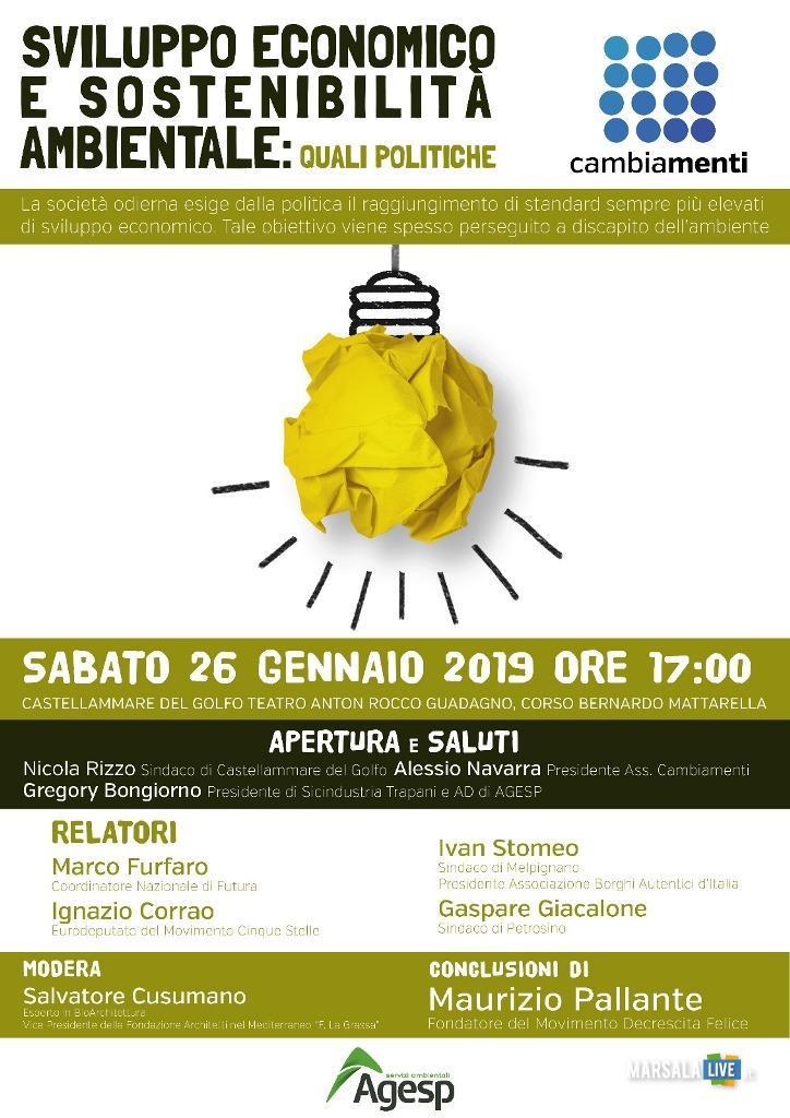 Locandina conferenza 26.01.2019 - Cambiamenti