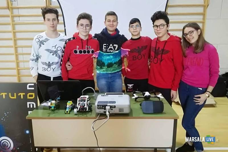 alunni istituto comprensivo Pirandello_convegno laboratori innovativi 25.01.2019 alcamo