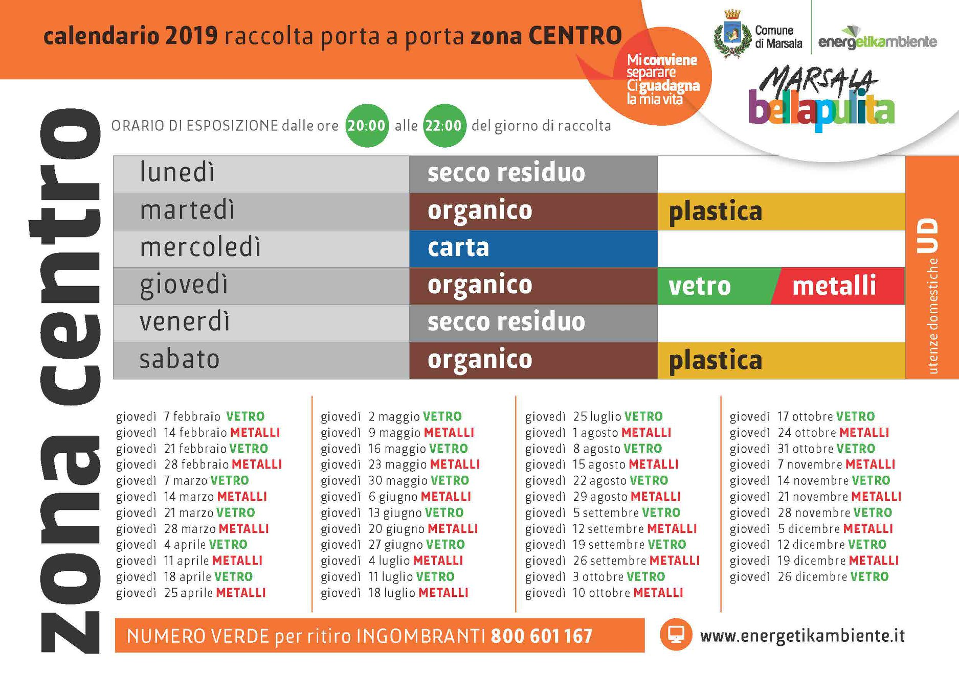 Calendario Differenziata.Marsala Raccolta Differenziata Nuovi Calendari In