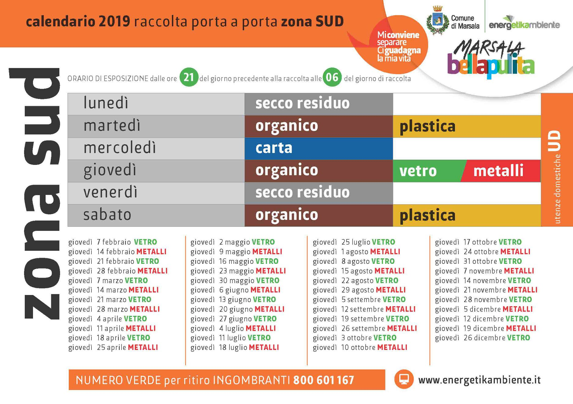 Calendario Raccolta Differenziata Sanremo.Marsala Raccolta Differenziata Nuovi Calendari In
