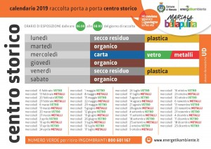 calendario differenziata marsala 2019