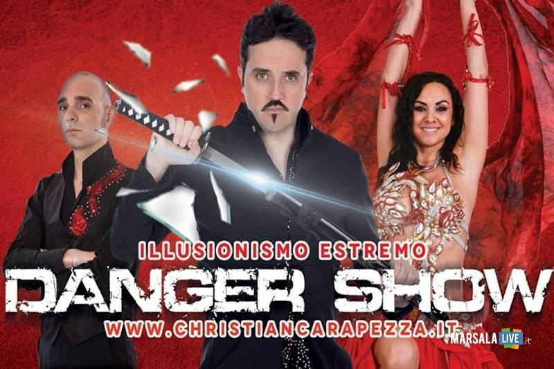 esibizione illusionista Christian Carapezza a Favignana