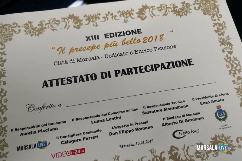 il presepe più bello 2018, premiazione concorso. Marsala (2)