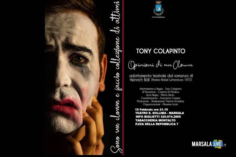 Opinioni di un clown, con Tony Colapinto. Marsala