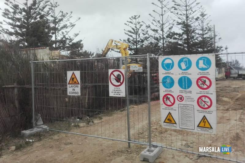 Abusivismo edilizio, demolito un immobile a Petrosino (2)