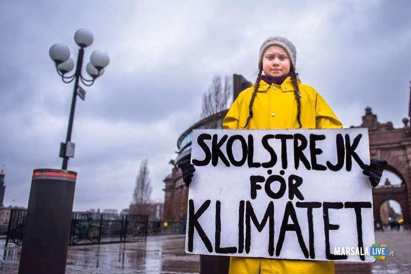 Amministrazione comunale di Marsala al fianco di Greta Thunberg