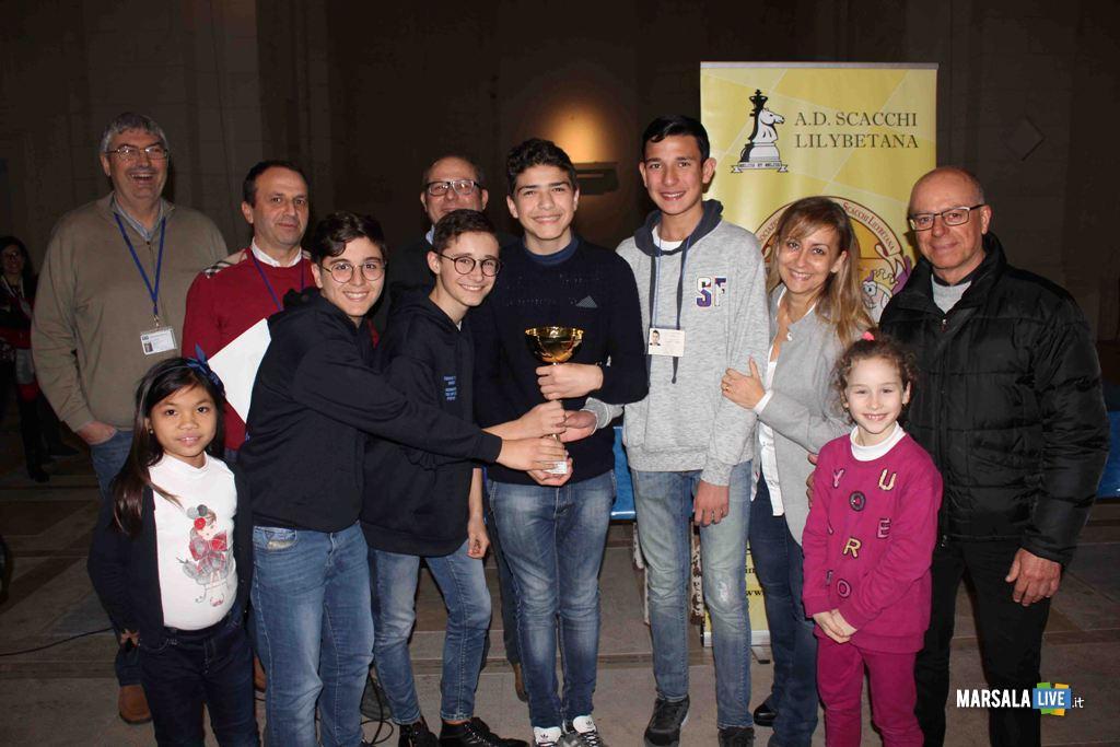 La premiazione della squadra allievi del Liceo Scientifico di Marsala