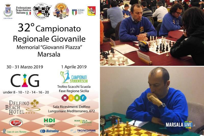 Marsala, Memorial Giovanni Piazza, Campionato Regionale Giovanile scacchi