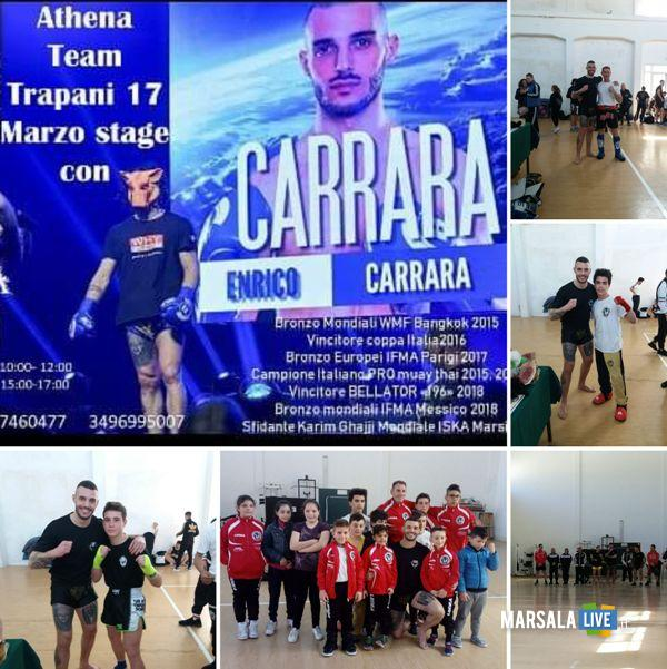 Team Biondo Marsala con Enrico Carrara 2019