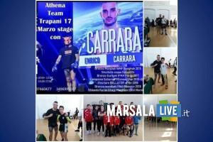 Team Biondo Marsala con Enrico Carrara