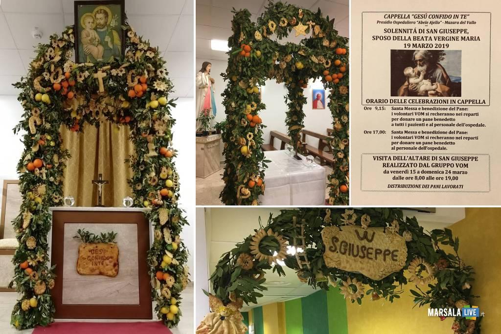 altare San Giuseppe cappella ospedale di Mazara