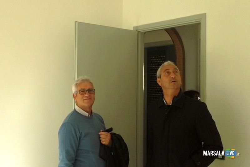 assessore Accardi con il tecnico comunale Gaspare Zichittella