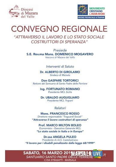 convegno regionale mcl diocesi mazara
