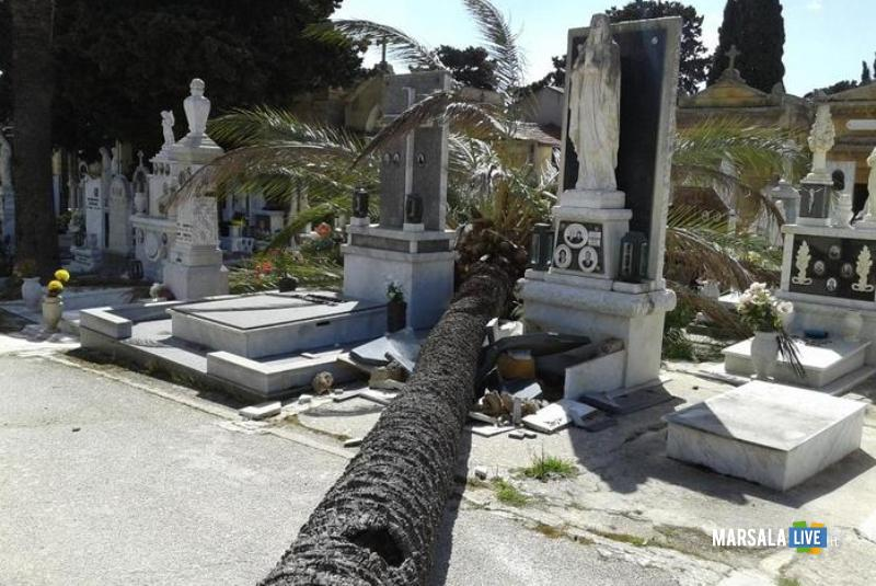 forte vento che da ore sta spazzando intera provincia di Trapani