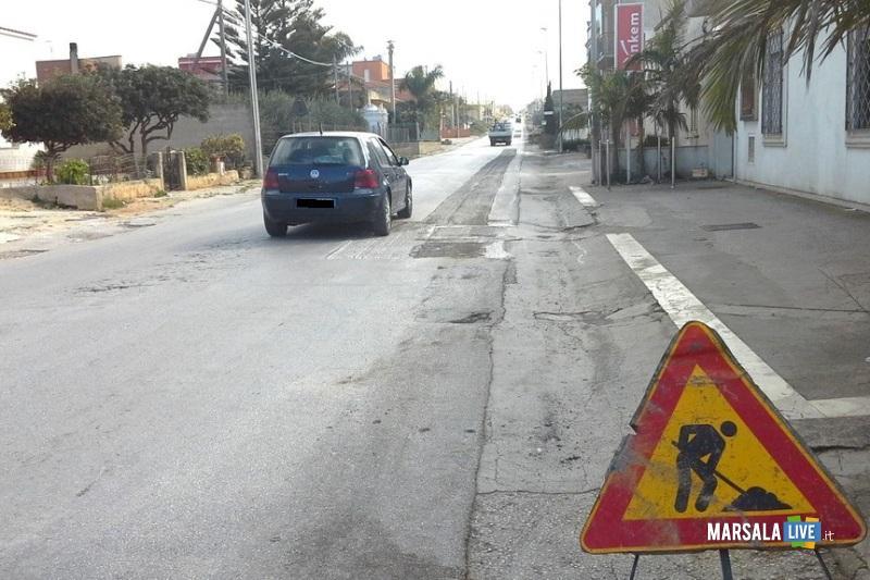 ripristino strade - Marsala