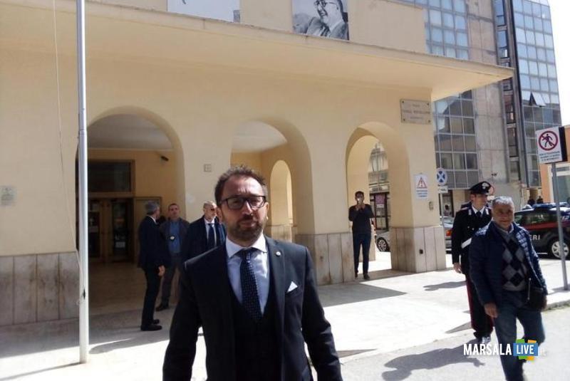 Il ministro della Giustizia Alfonso Bonafede a Marsala 23 aprile 2019