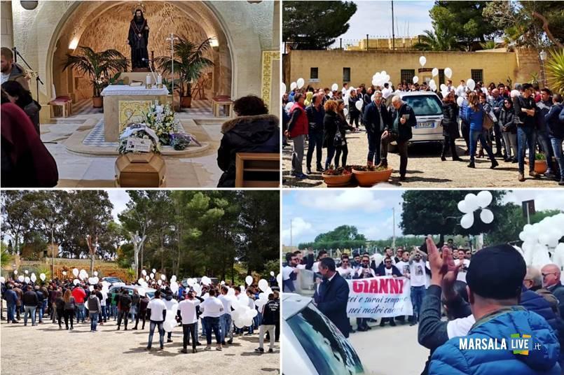 Funerali di Gianni Genna, Santo Padre delle Perriere, Marsala