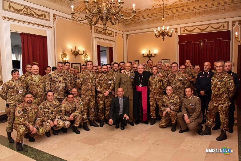 La benedizione dell'Ordinario militare Mons. Santo Marcianò
