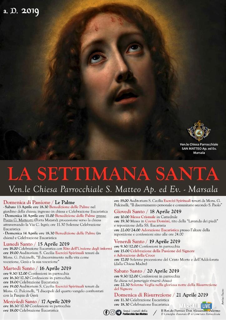 Marsala, la Settimana Santa a San Matteo - 2019 -