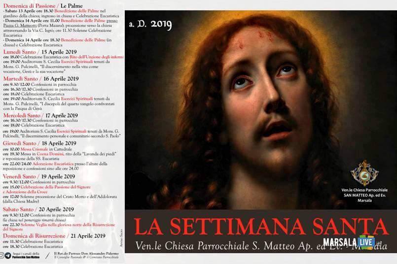 Marsala, la Settimana Santa a San Matteo - 2019