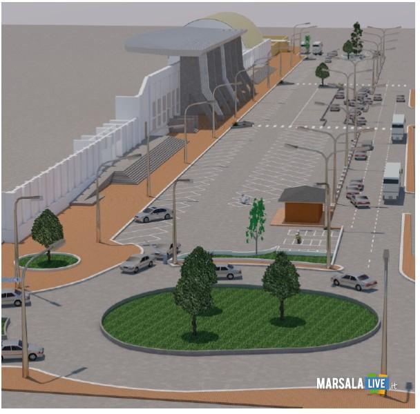 Marsala, parcheggio zona stadio, progetto