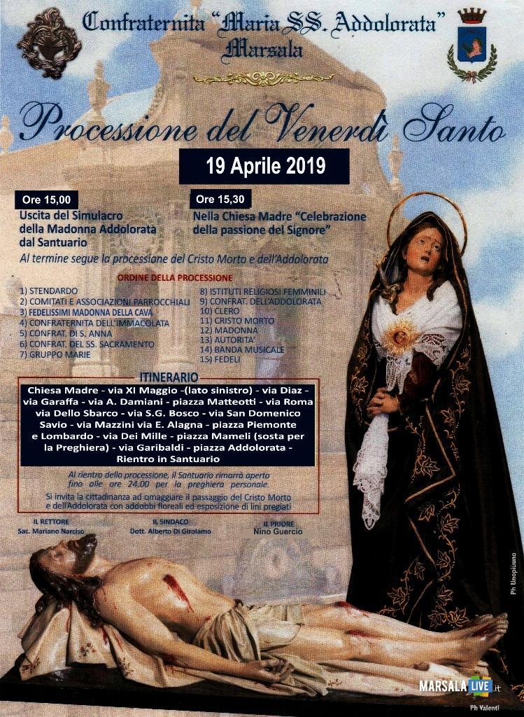 Processione del Venerdì Santo a Marsala 2019