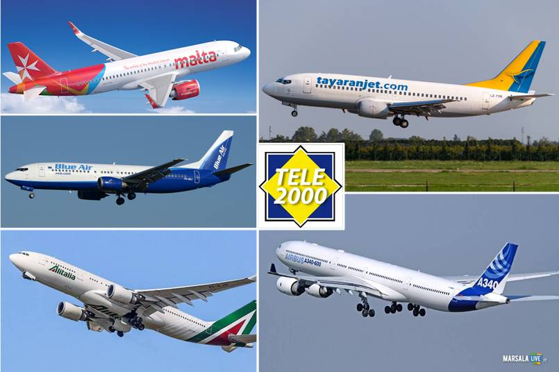 Tele 2000, Topjets World Wide, Tayaranjet, Air Malta Plc, Blue Air, Alitalia