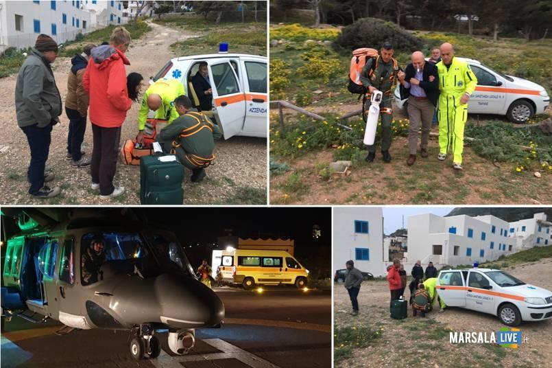 elicottero 82° Centro C.S.A.R. Trapani decollato per salvare 2 uomini