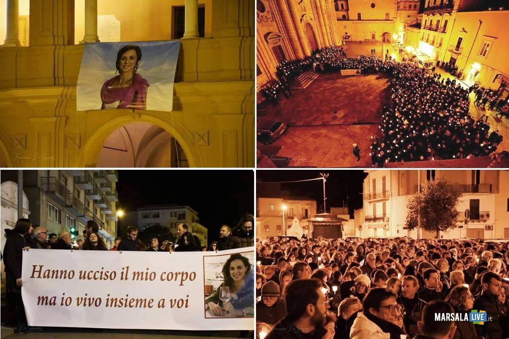 fiaccolata per Nicoletta Indelicato, Marsala