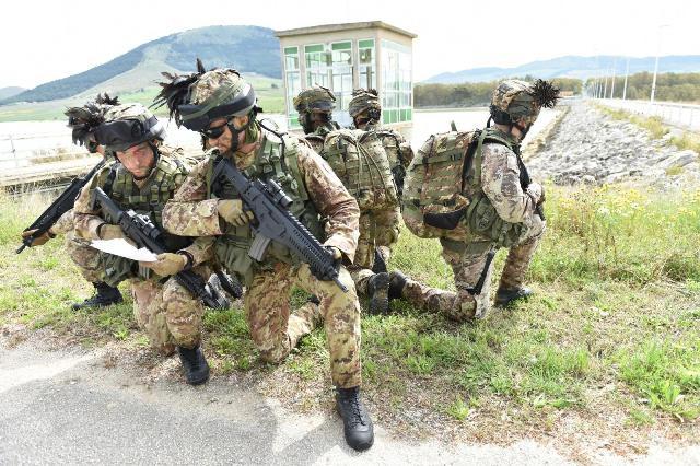 pattuglia del 6° reggimento bersaglieri