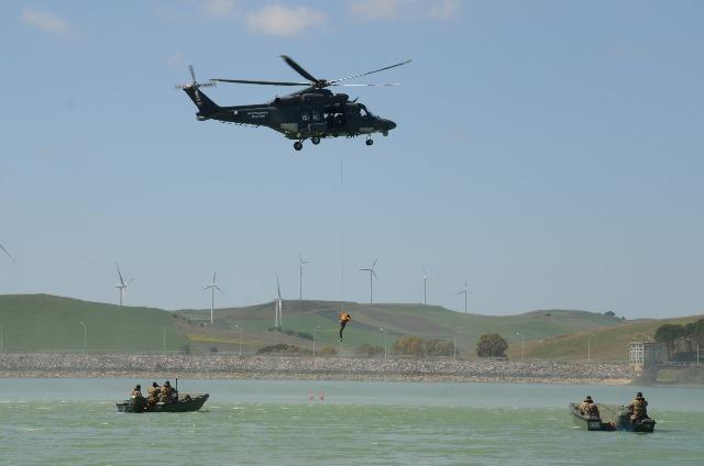 un momento dell'addestramento 82° CSAR..
