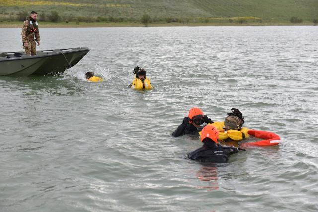un momento dell'addestramento 82° CSAR